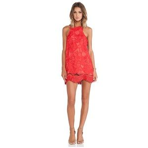 NWT Lovers + Friends CASPIAN SHIFT DRESS red coral